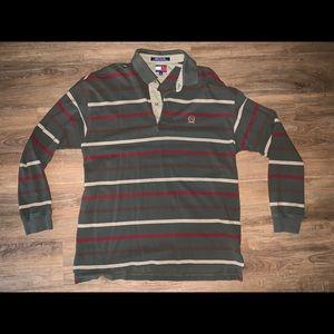 Vintage Tommy Hilfiger Stripe Long Sleeve Polo